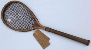 One of the first tennis rackets